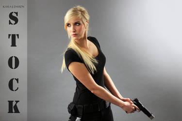 Kayla Gun Pose Reference STOCK II by PhelanDavion