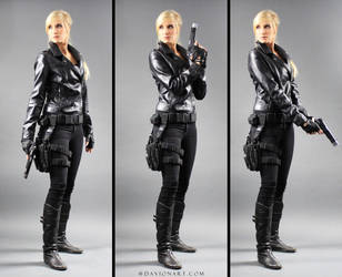 Kayla Gun Pose Reference STOCK IV by PhelanDavion