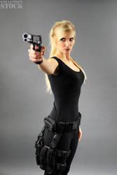 Kayla Gun Pose Reference STOCK V by PhelanDavion