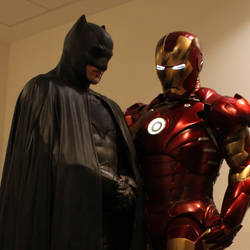 Batman and Iron Man by PhelanDavion