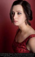 Sara - Red Portrait II by fetishfaerie-stock
