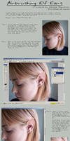 Airbrushing Elf Ears by fetishfaerie-stock