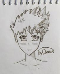 Random Manga Dude by AnDrewDrawsArt