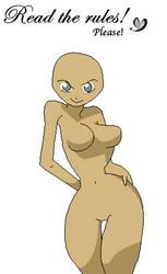 Sexy Animu Girl Base by xSweetSlayerx