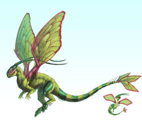 Realistic Pokemon: Flygon by ReneCampbellArt