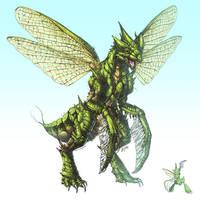 Realistic Pokemon: Scyther by ReneCampbellArt