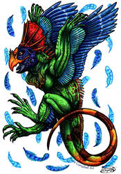 Day 22: Iguana Parrot by ReneCampbellArt