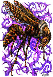 Day 28: Buzzard Wasp by ReneCampbellArt