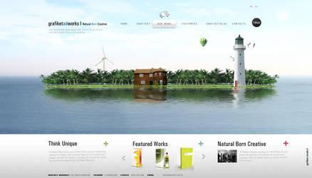 Natural Born Creative Website by grafiket
