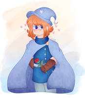 (Art trade) blushy wizard by 123abcdrawwithme