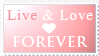 Live + Love Stamp by Mel-Rosey
