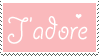 J'adore stamp by Mel-Rosey