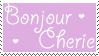 Bonjour Cherie Stamp by Mel-Rosey