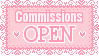 Commissions Open Stamp by Mel-Rosey