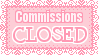 Commissions Closed Stamp by Mel-Rosey