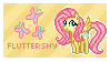 Fluttershy Stamp by Mel-Rosey
