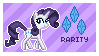 Rarity Stamp by Mel-Rosey