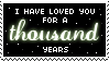 A Thousand Years stamp by Mel-Rosey