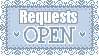 Request Open Button Blue by Mel-Rosey