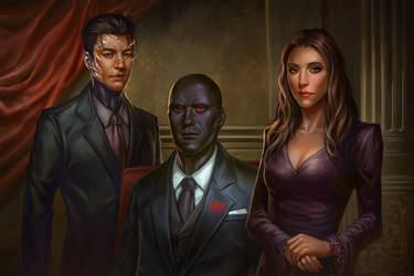 lovely family portrait by macarious