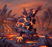 Lava Golem by Krasgar