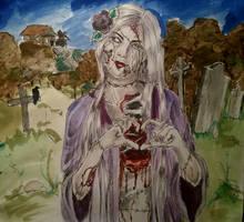 #inktober Zombie Witch (Day 10) by KamiHoro