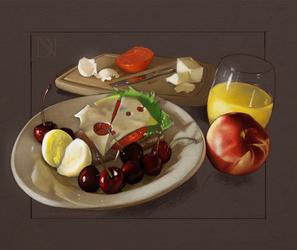 Still Life/Study of Food by donavanneil