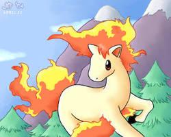 Ponyta for Bubblez by stardroidjean