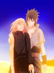 Naruto 685: SasuSaku moment... FINALLY! by Zakuuya