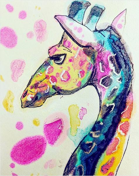 Giraffe by james-talon