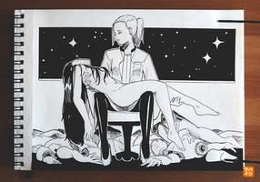 Inktober 16: Pieta by Hatsuraikun