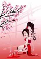 Samurai Girl by LorenaAzpiri