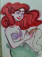 Day 7 - The little mermaid by SerifeB