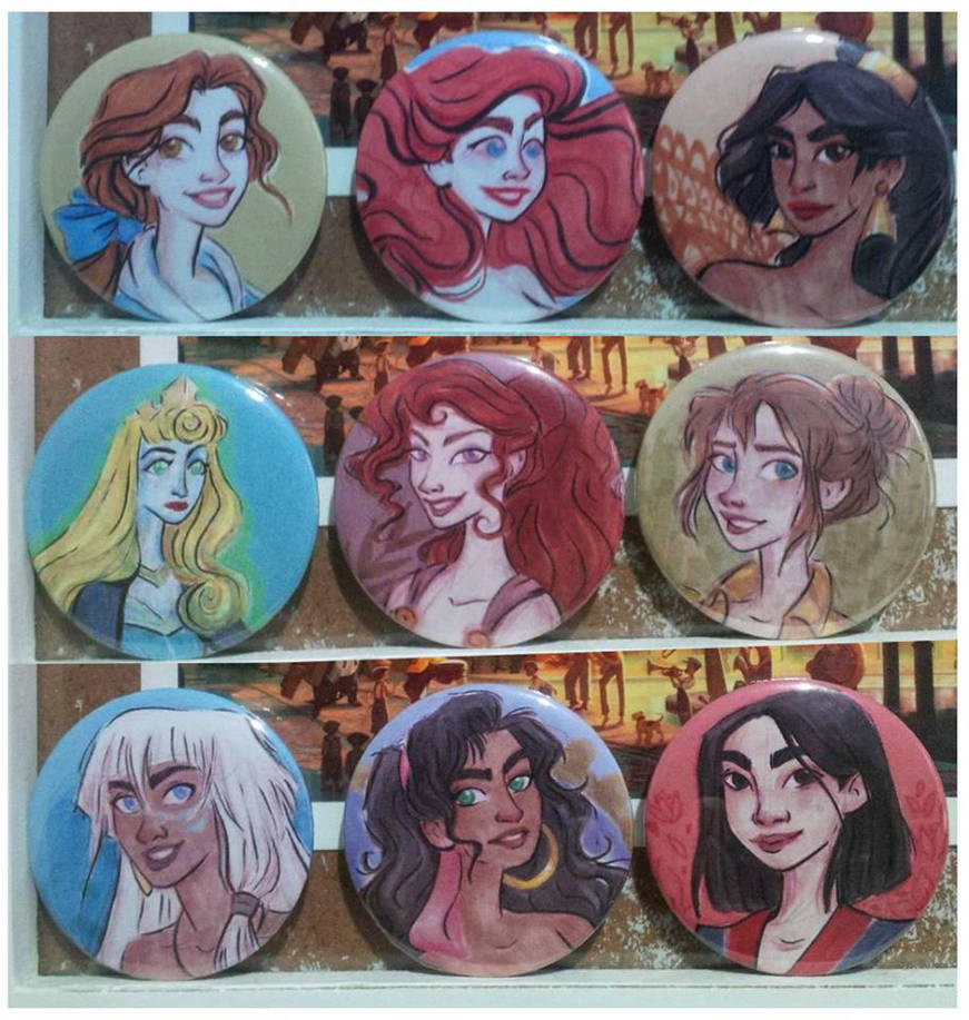 Badges-disney-girls by SerifeB