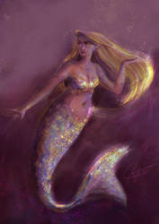 Mermay 2018 - Golden Mermaid by SerifeB