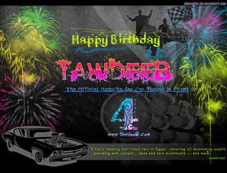 TawdeeB.com Birthday wallpaper by ChiccoGhazala
