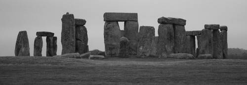 Stonehenge in Black and White by Telestic