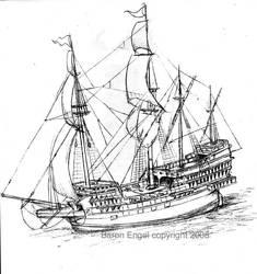 English Galleon by Baron-Engel