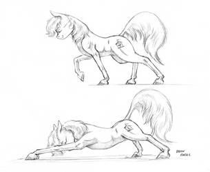Carousel stretching 01 by Baron-Engel