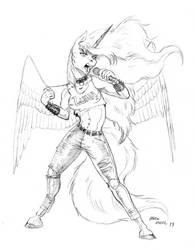 Rocking anthro Luna by Baron-Engel