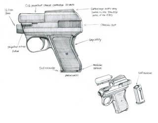 Fluttershy's pistol  by Baron-Engel