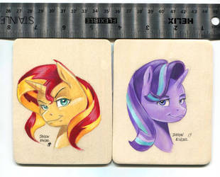 Sunset and Starlight on wood by Baron-Engel