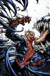 Venom  Spaceknight Cover by Javilaparra
