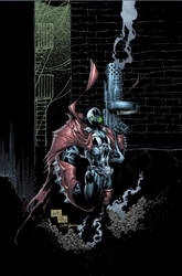 Spawn cover colored by Javilaparra