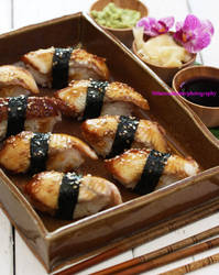 Homemade Unagi Sushi by theresahelmer