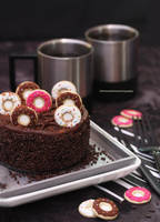 Mini Chocolate Donut Cake with Coffee by theresahelmer