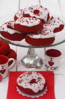 Baked Buttermilk Red Velvet Donuts by theresahelmer