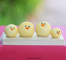 Family Of Four - Marzipan Chicks by theresahelmer