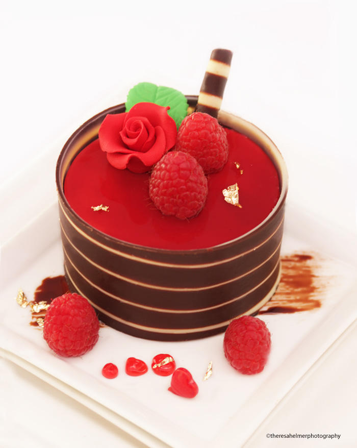 Chocolate Raspberry Mousse Cake by theresahelmer
