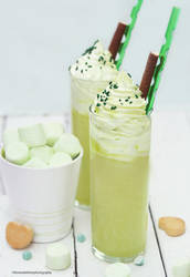 Key Lime Marshmallow Milkshake by theresahelmer